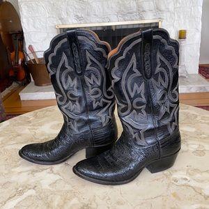 Rare Garner Moss Hand Made Leather Cowboy Boots